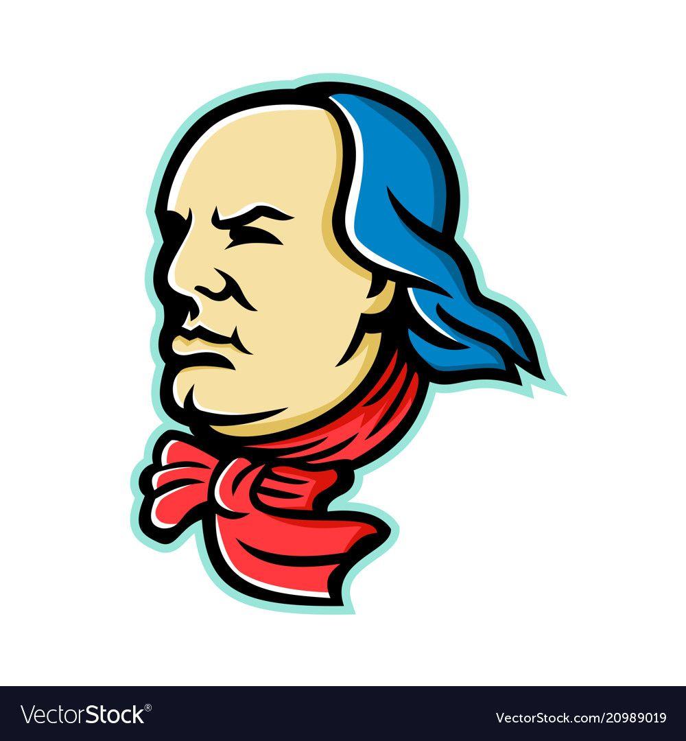 79cbd6e583 Benjamin franklin mascot vector image on   Clipart   Illustration ...