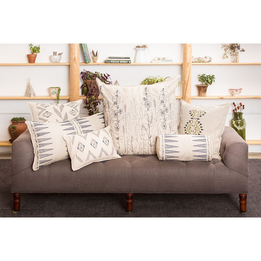 Coral and tusk field large cushion grey bedroom ideas