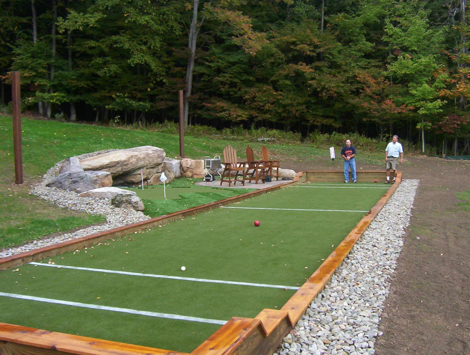 bocce ball court construction customturf com bocce pinterest