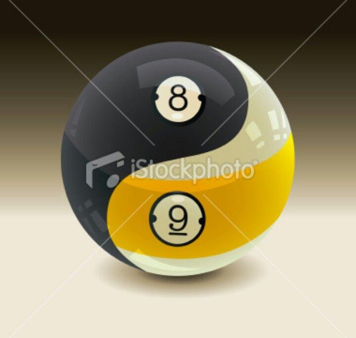 Cool Yin Yang 8 Ball 9 Ball Pool Ball Pool Balls Billiards