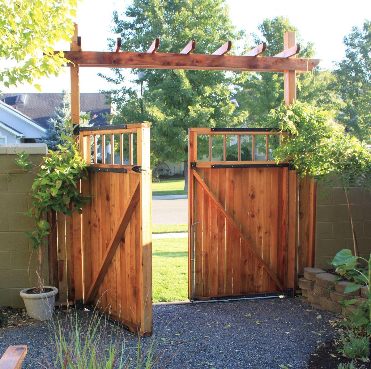 Fence Gate Arbor: Backyard Gates, Outdoor Gate, Backyard