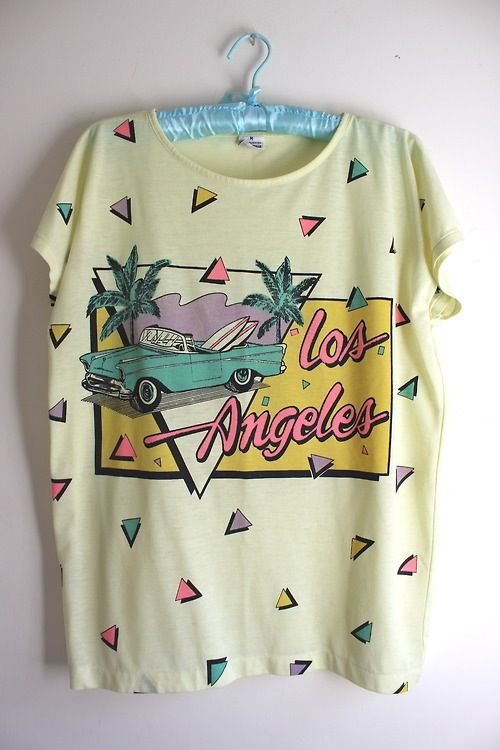 755f8b03b2e36 La 80s Tshirts, Retro T Shirts, Cute Fashion, Retro Fashion 80s, Fashion