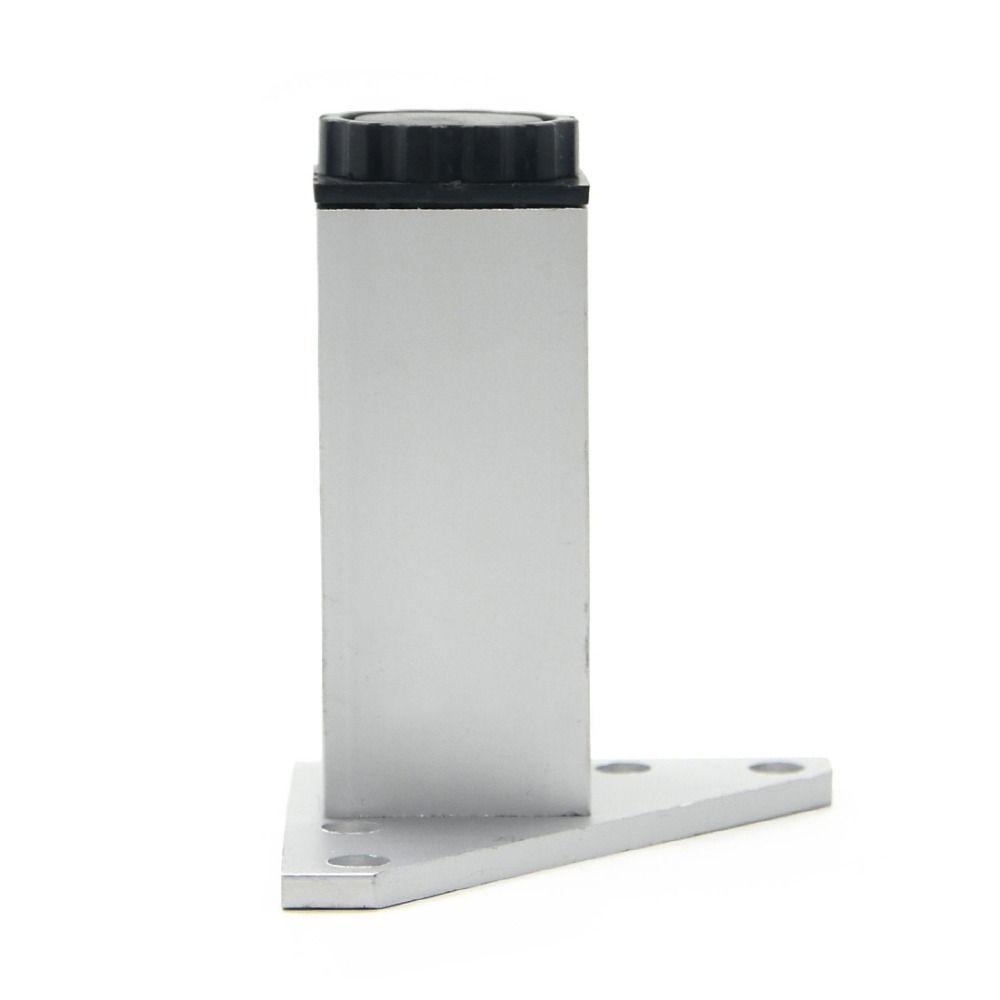 4 Stks 10 Cm Meubels Benen Kabinet Voeten Aluminium Metalen Tafel Verstelbare Driehoek Base Met Schroeven Metal Table Furniture Legs Aluminum Metal