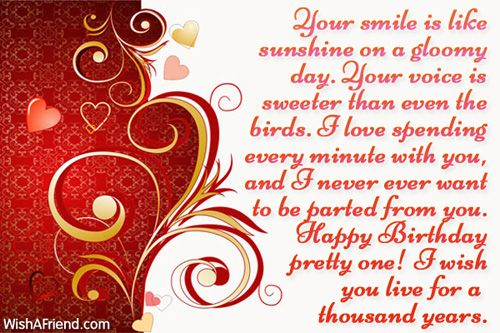 Your smile is like sunshine birthday wishes for girlfriend birthdays bookmarktalkfo Image collections