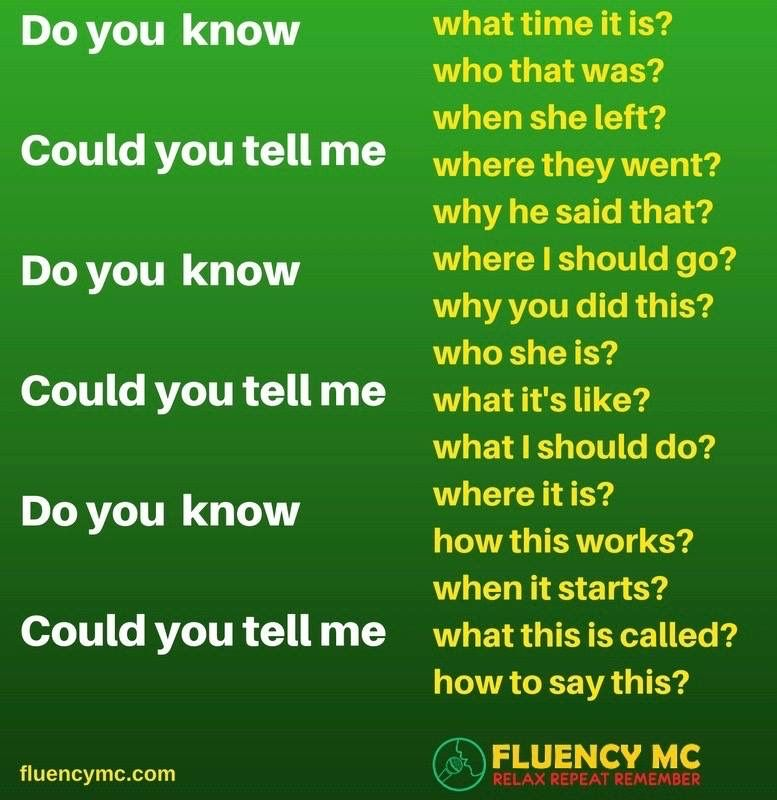 Phrases - Questions with noun clauses! Make your own sentence! Practice!