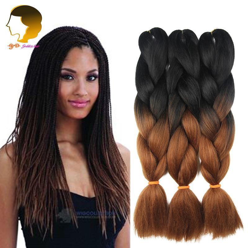 Ombre Kanekalon Braid Hair Jumbo Twist Expression Braiding Hair