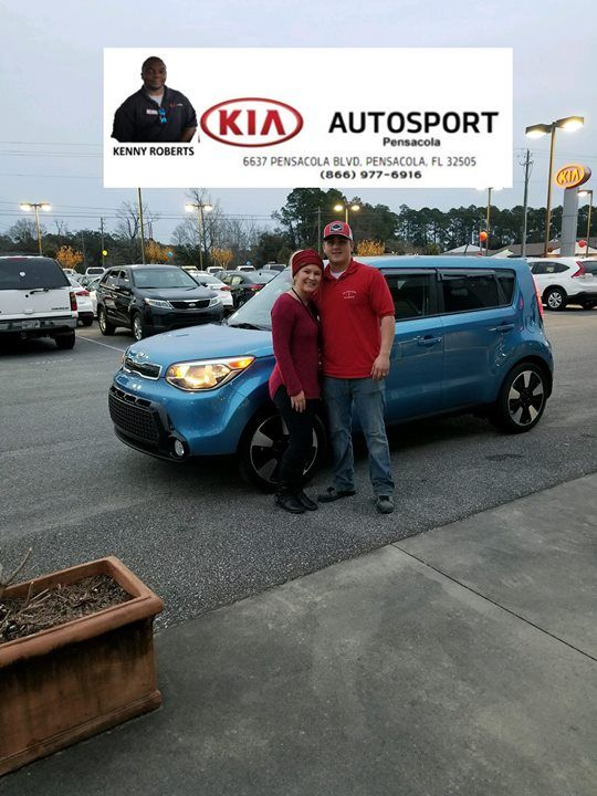 Kenny Roberts And KIA AutoSport Of Pensacola Would Like To Thank Brandy And  Steven Hall For The Purchase Of Their 2016 KIA Soul!! We Are So Happy U2026
