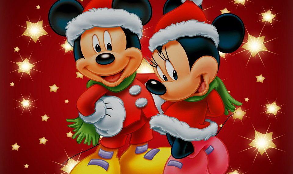 Mickey Minnie Disney Christmas Background Hd Minnie Mouse