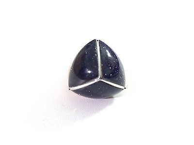 Eddie Borgo - NEW* Silver Inlaid Three-Sided Pyramid Ring, Size 7 - http://designerjewelrygalleria.com/eddie-borgo/eddie-borgo-new-silver-inlaid-three-sided-pyramid-ring-size-7/