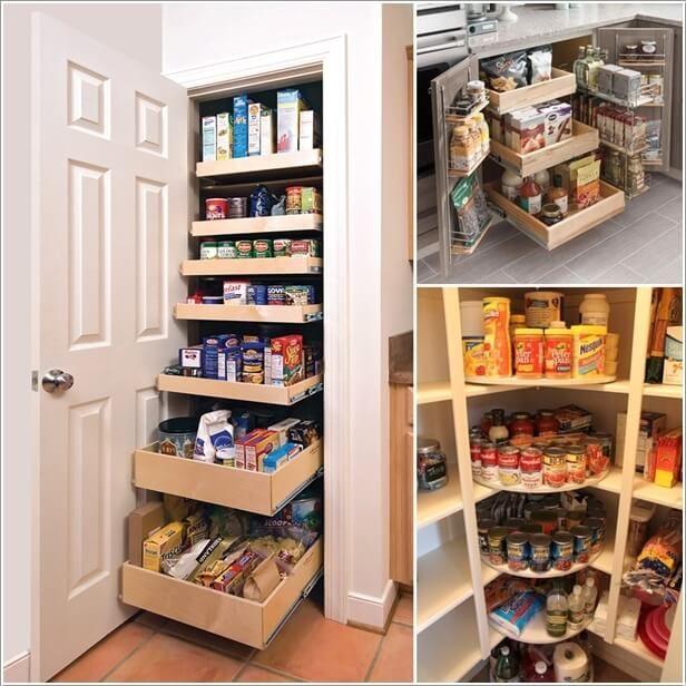 10 ideas inteligentes para almacenar más de una pequeña despensa ...