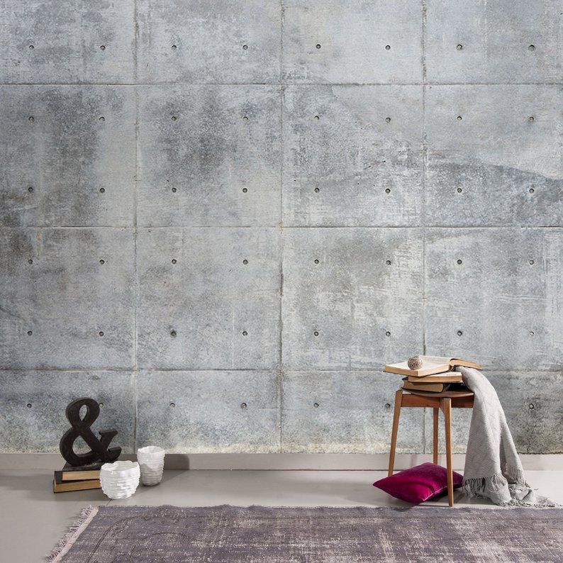 Pin By Muraviewall On Wall Stone Wallposters Concrete Wallpaper Faux Concrete Wall Concrete Wall