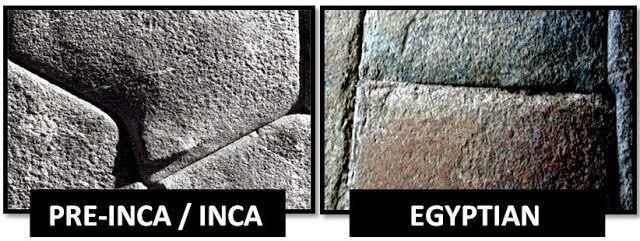 AMBOS LOS EGIPCIOS Y ANTIGUOS INCAS / PRE-INCAS ... creado cortes de piedra precisión como en su obra, de tal manera que un pedazo de papel apenas cabe entre las piedras. A menudo no se usó mortero. Esto simboliza el afán por alcanzar la perfección, o la cercanía a la perfección, lo que le lleva a uno más cerca de nuestro hogar espiritual y celestial y eterna fuente. 8. PUERTAS TRAPECIAL