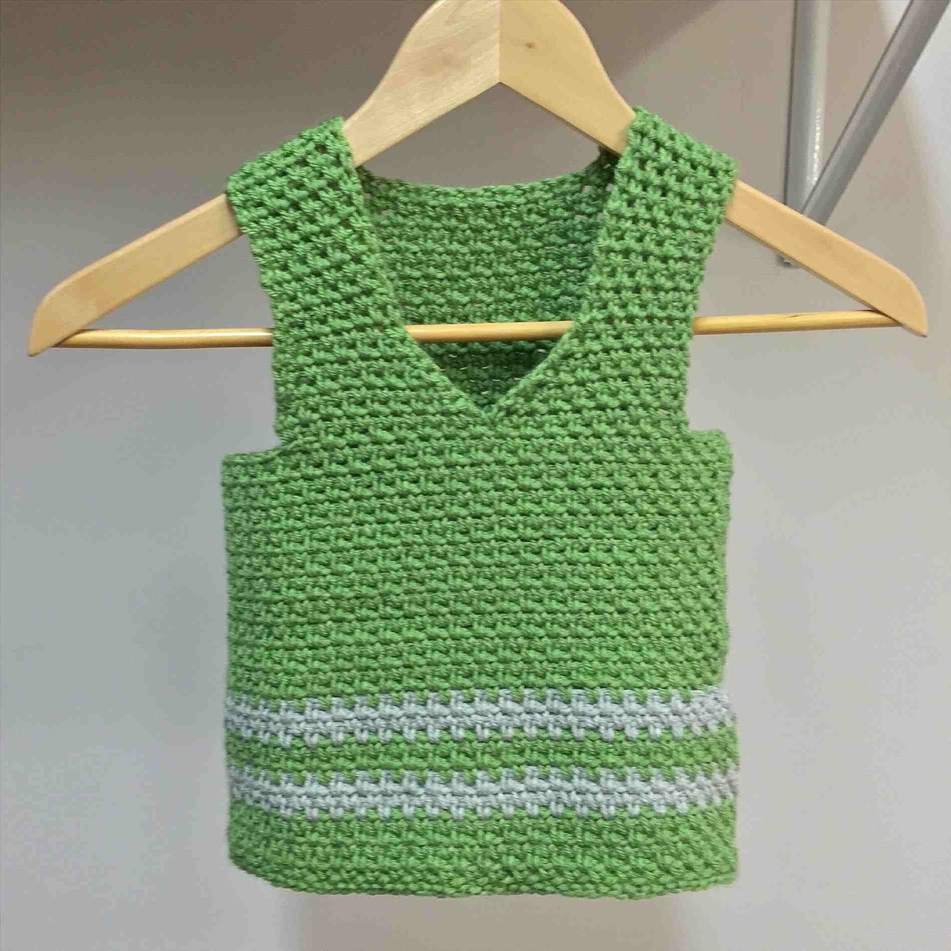 2e80d16a3 Crochet Baby Vest - fish and chip baby . crochet baby sweater free ...