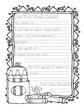 Dear Teacher Writing A Letter To Next Year S Teacher Letter To