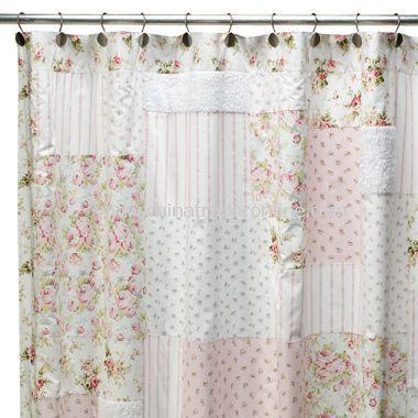 Shabby Chic Rhinestone Shower Curtain Hooks Shabby Chic Shower