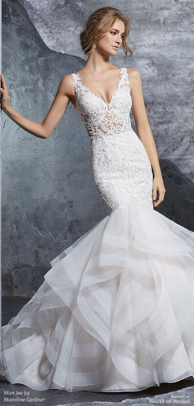 e767b091a945 Mori lee by Madeline Gardner Spring 2018 Stunning Flounced Tulle Mermaid  Bridal Gown