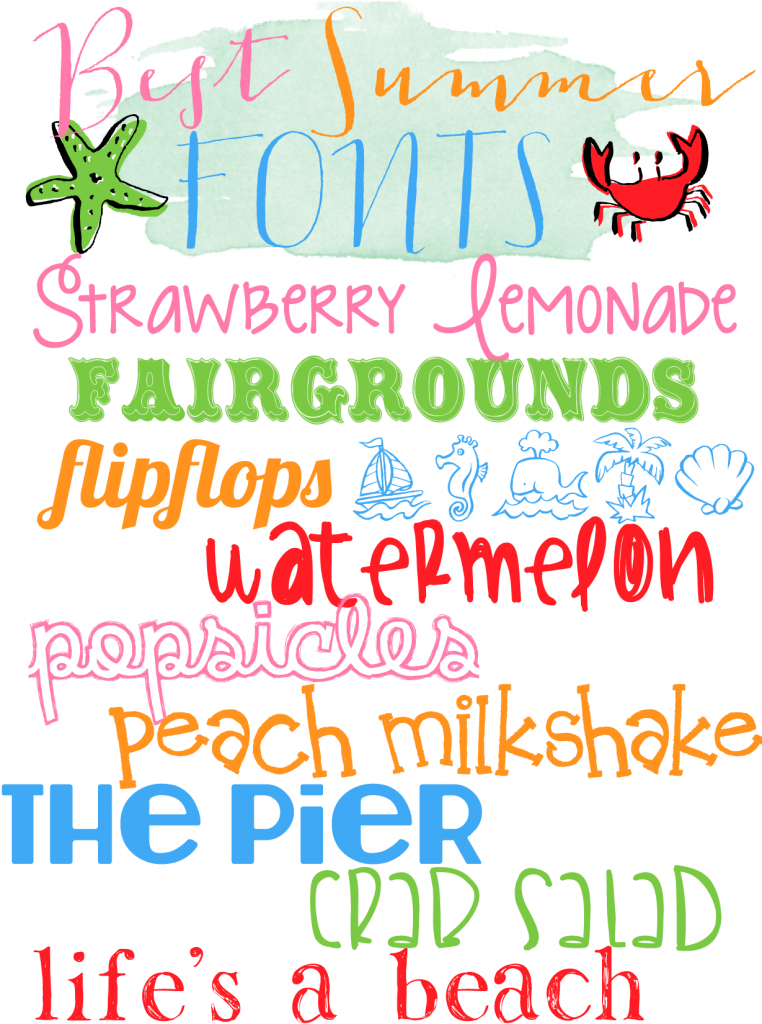 Best Summer Fonts {10 Free fonts w/ easy download links}