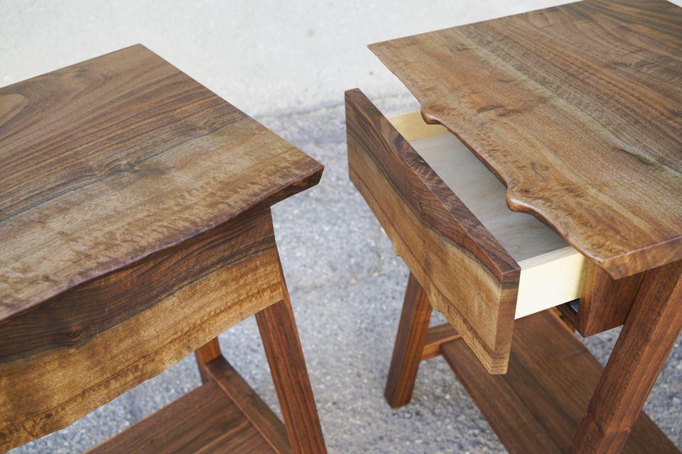 Bastogne Bedside Tables | Natural Wood | Bedside, Furniture