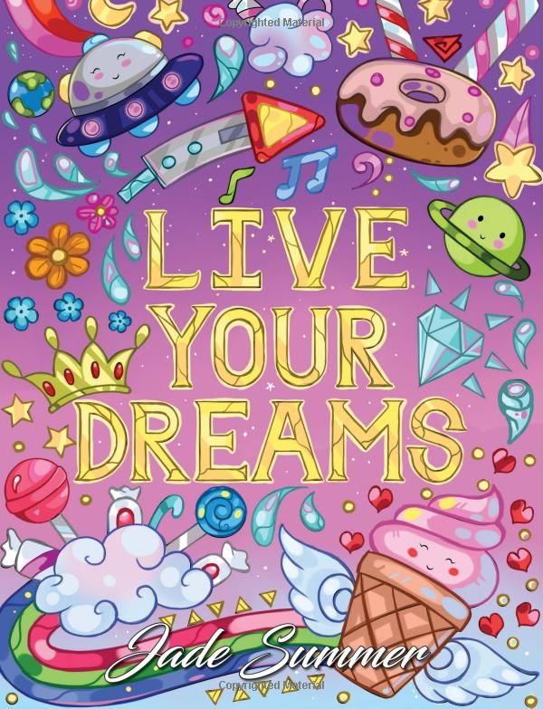 Amazon Live Your Dreams An Adult Coloring Book With Fun Inspirational Quotes