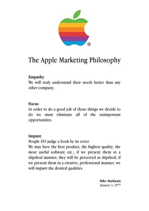 The Apple Marketing Philosophy - new enterprise blueprint apple