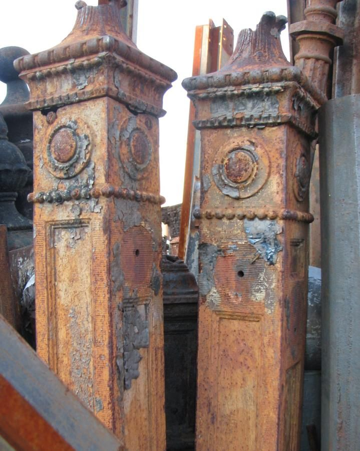 Unusual Ornate Cast Iron Newel Posts Architectural Salvage Online Store Buy Altere Antique Architectural Salvage Architectural Antiques Architectural Salvage
