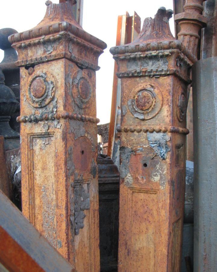 Unusual Ornate Cast Iron Newel Posts Antique Architectural Salvage Architectural Antiques Architectural Salvage