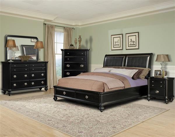 Danbury Classic Black Wood Master Bedroom Set King Size Bedroom Sets Cheap Bedroom Sets Bedroom Sets