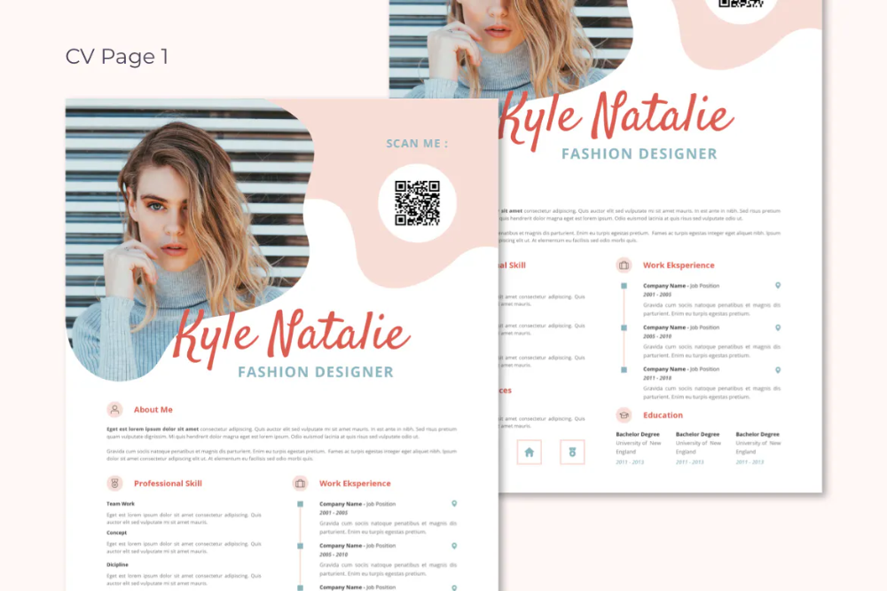 Cv Resume Fashion Designer By Spacestudios On Envato Elements In 2020 Resume Words Resume Resume Design Template