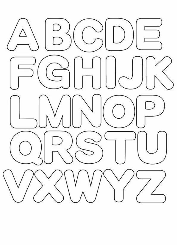 Abecedario Imprimir Moldes De Letras Letras Para Imprimir