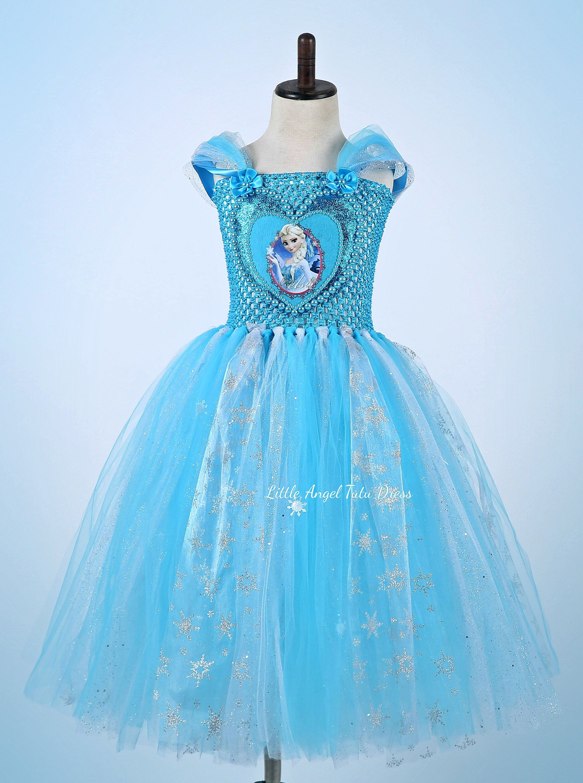 NEW STYLE Frozen Elsa Tutu Dress. Handmade Princess Dress. Disney ...