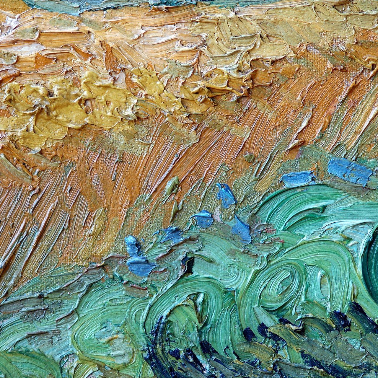 Wheat Field With Cypresses Vincent Van Gogh 1889 Backgrounds Desktop Wallpaper