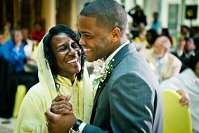 groom dancing with mother  at the Newton White Mansion in Mitchellville MD