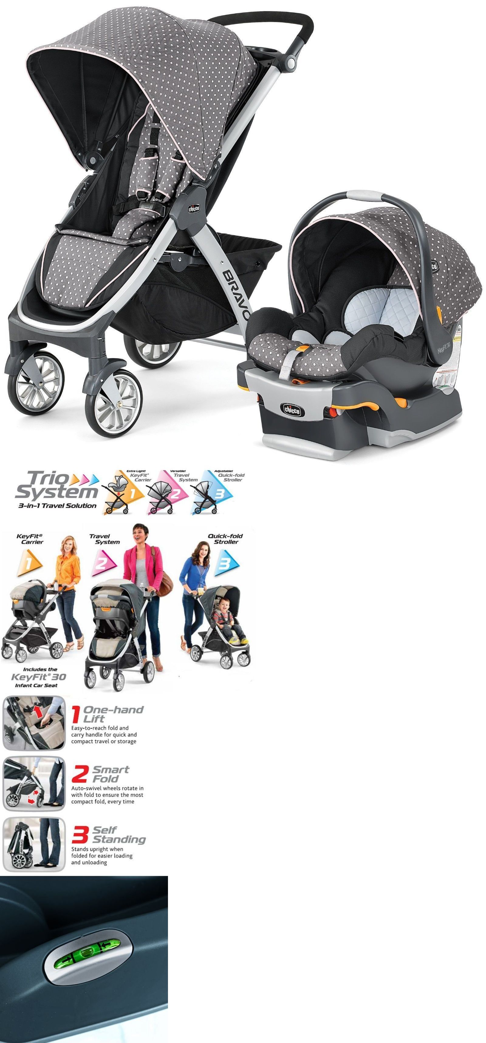 Other Strollers 2989 Chicco Bravo Trio 3 In 1 Baby Travel System