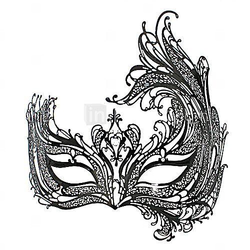 The Nine-tailed Fox Fairy Style Black Metal Halloween Masquerade ...
