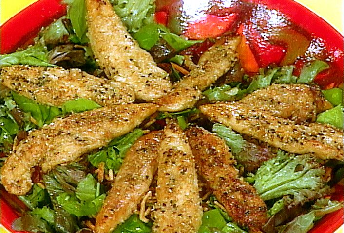 Sesame chicken salad recipe sesame chicken salad and recipes food network invites you to try this sesame chicken salad recipe from rachael ray forumfinder Gallery