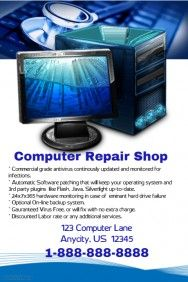 Computer Repair Shop Flyer  Employment Small Biz