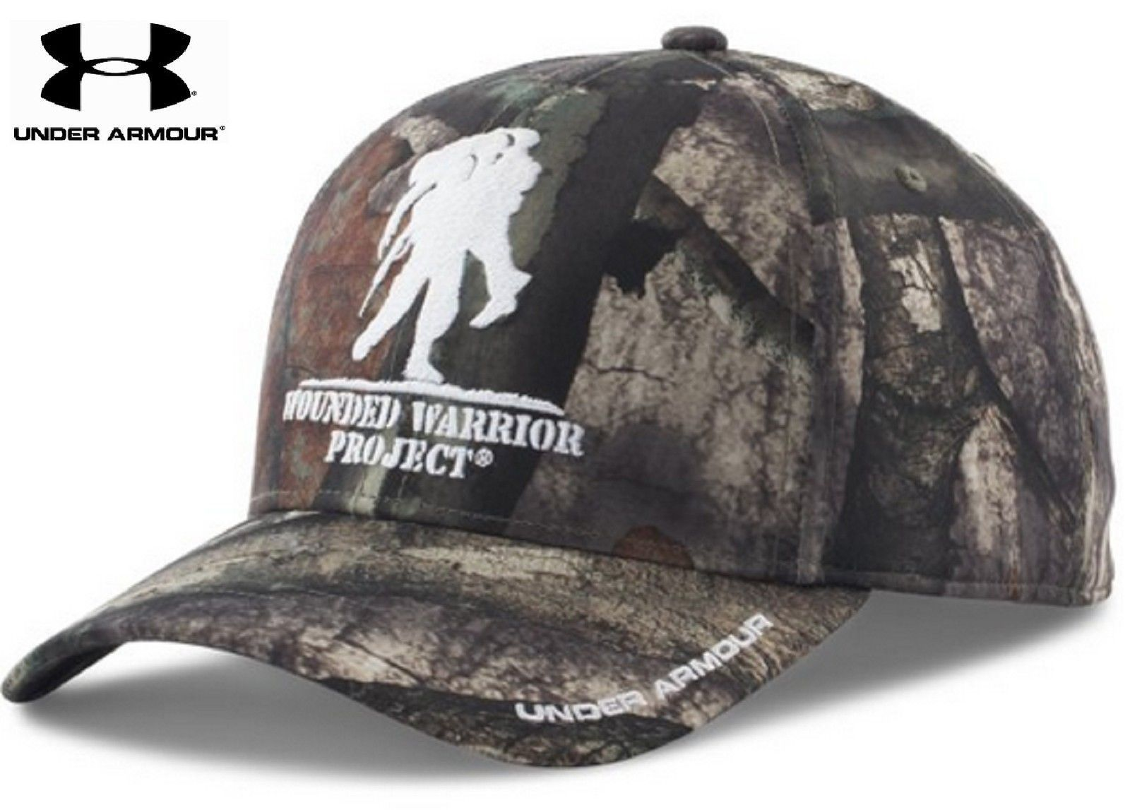 Under Armour Wounded Warrior Project Camo Snap Cap - Mens UA Embroidered  WWP Hat 6ce7deccb7d4