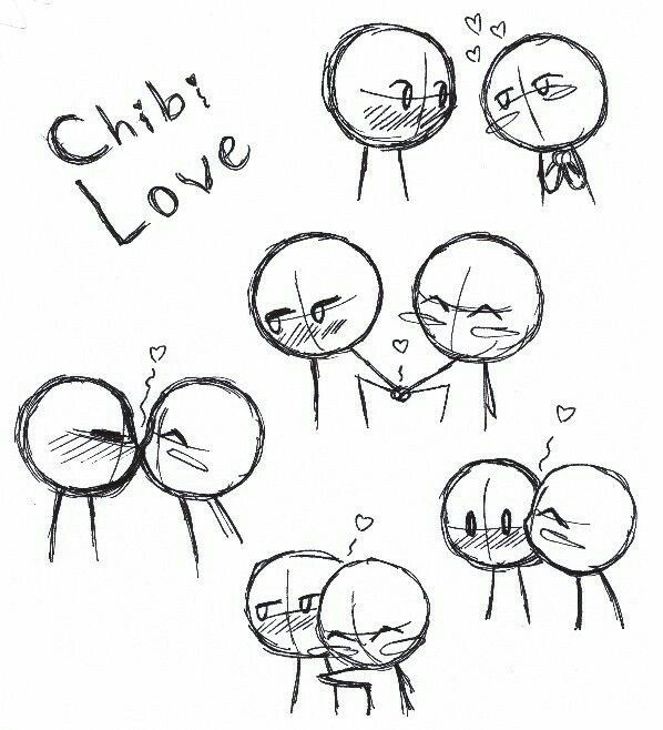 Chibi Love Text Couple Kissing Hugging Holding Hands How To Draw Manga Anime Hand Drawing Reference Chibi Drawings Kissing Drawing