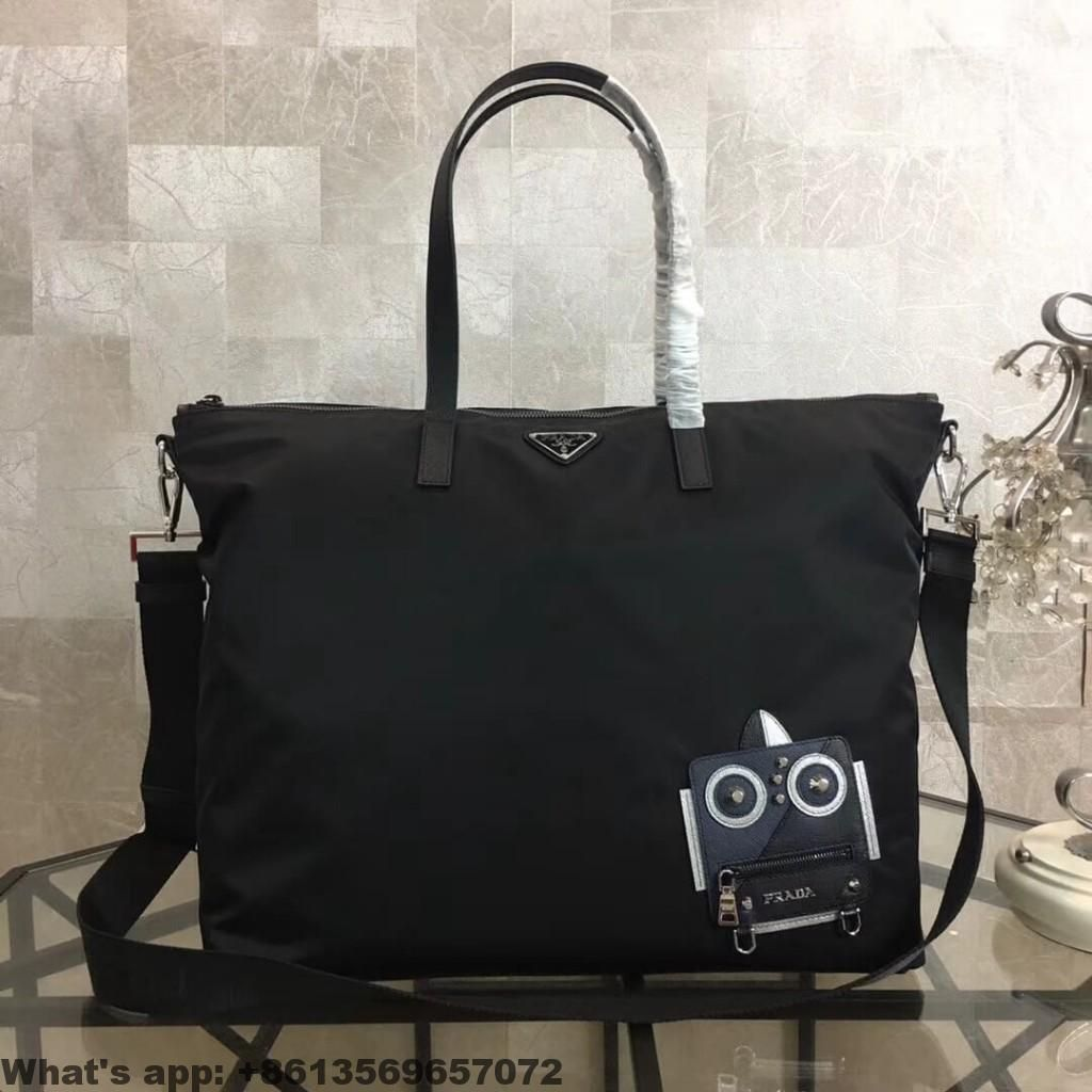 9a45393404c6 Prada Nylon Tote with Robot Appliqué 2VG024 2018 | Prada | Prada bag ...