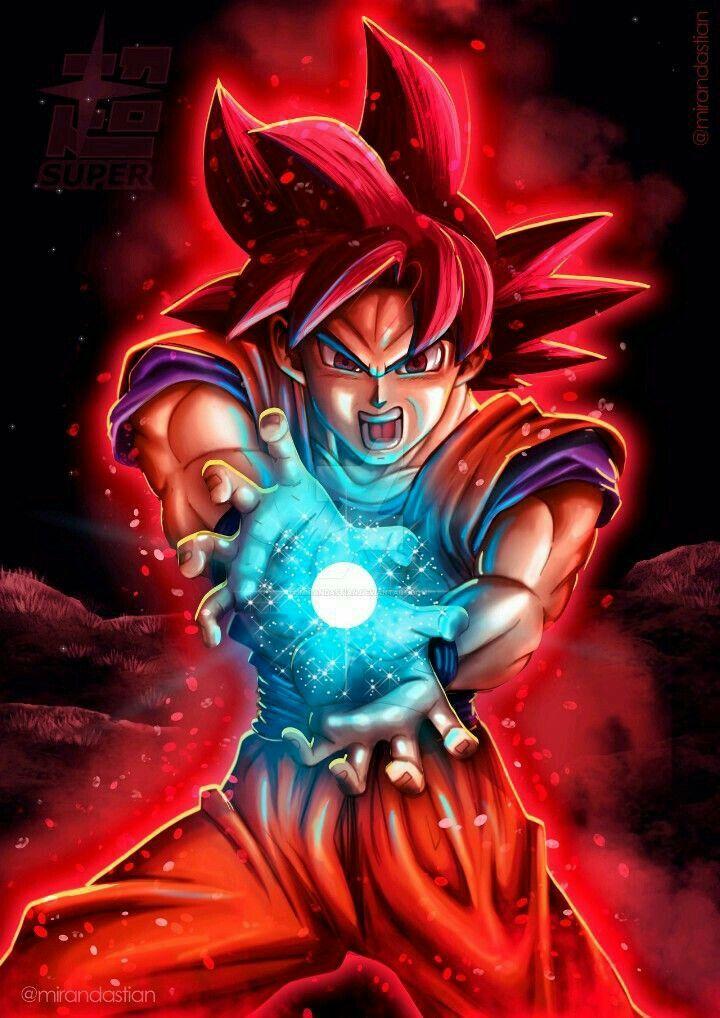 Goku ssj god kamehameha dragon ball z pinterest - Foto goku super saiyan god ...