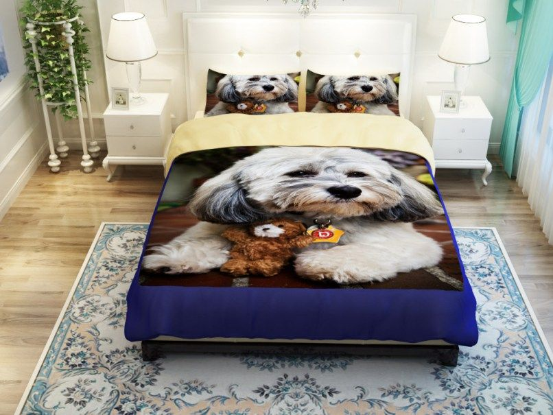 Love Poodles   Lovely Bedding Set  Ttp://www.lovingpets.com.au/products/3d Animals Huskiesbeaglesperky Pug Cute  Dog Print Bedding Set Twin Queen King Size  ...