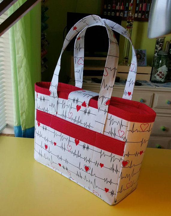 Medical themed large tote nurse bag tematica - Regalos para enfermeras ...