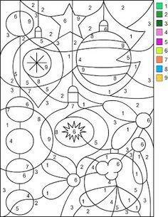 Gratis Kleurplaten Op Nummer.Nicole S Gratis Kleurplaten Christmas Kleur Op Nummer Rekenen