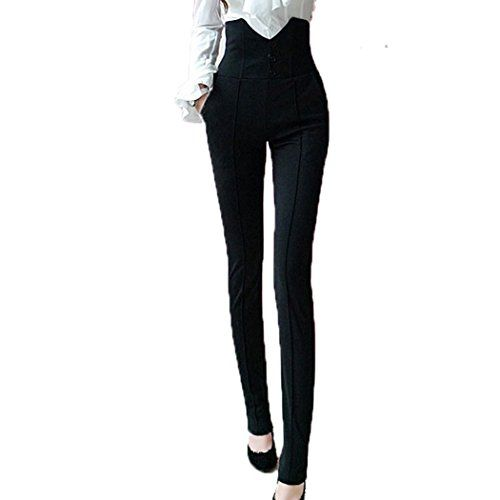 6c719e45c004 High Waist Button Sailor Dress Pants Waisted Pinup Fitted Slim Skinny  Leggings