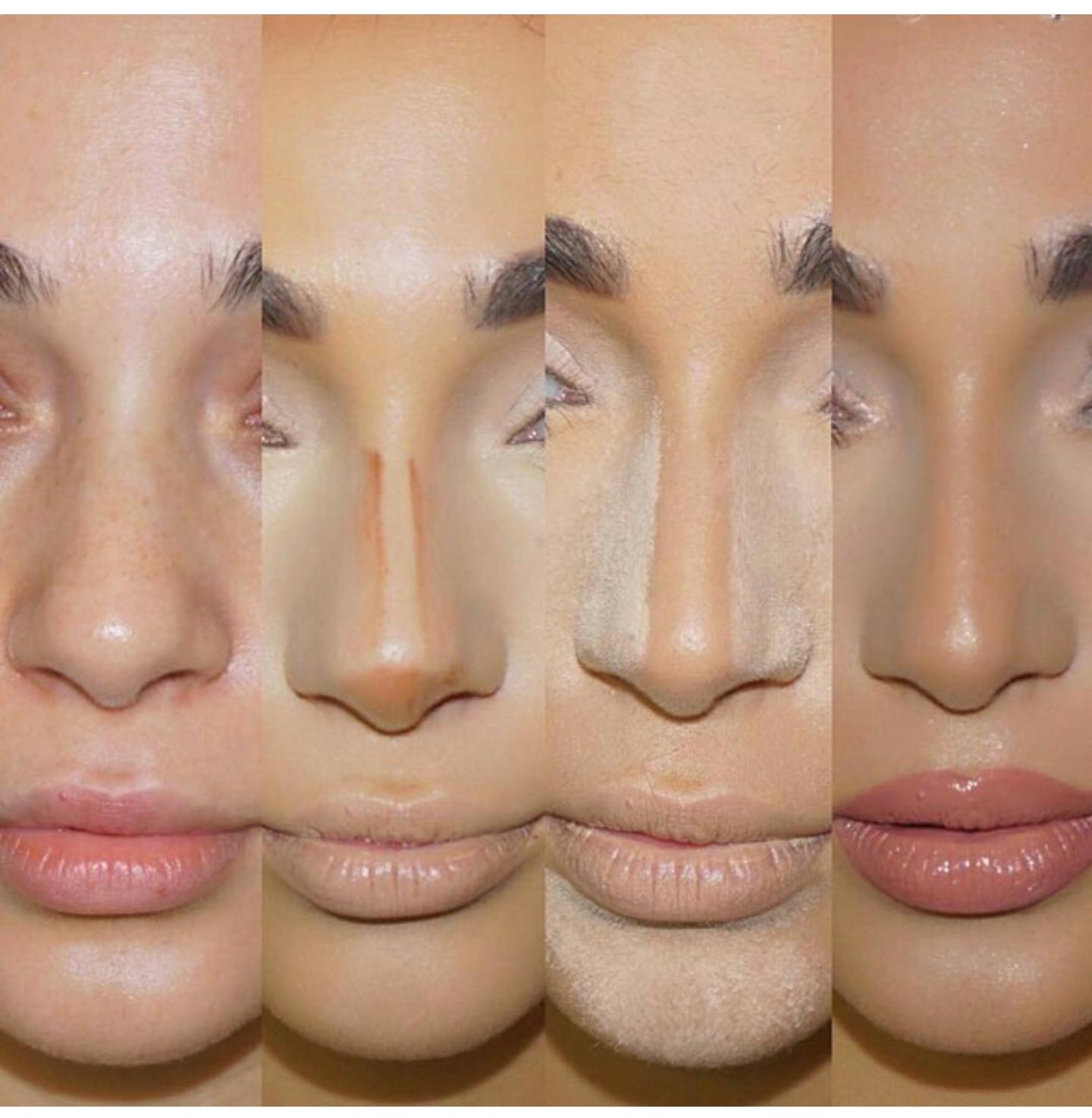 How to properly contour a nose  Nose makeup, Nose contouring