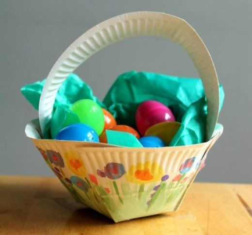 Pin by susan hannel perri on crafts pinterest paper plate easter basket paper plate craft from nurture mom negle Choice Image