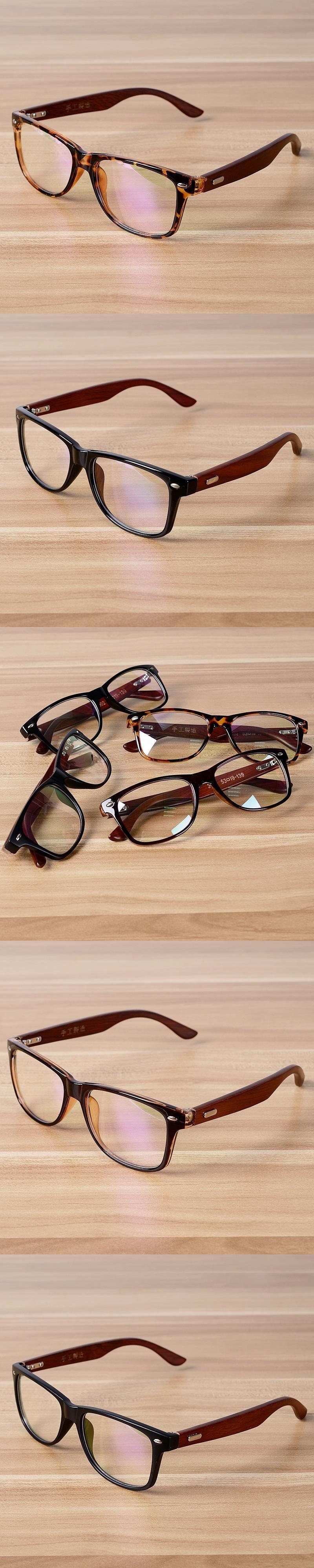 772657b15b Korean Glasses Frame Clear Lens Optical Frames Vintage Eyeglasses Wooden  Bamboo Brown Leopard Eyewear Frames Spectacle