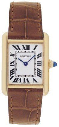 Cartier Tank Louis 18kt Yellow Gold Ladies Watch