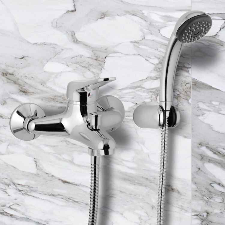 Wall Mount Tub Faucet With Hand Shower Wall Mount Tub Faucet