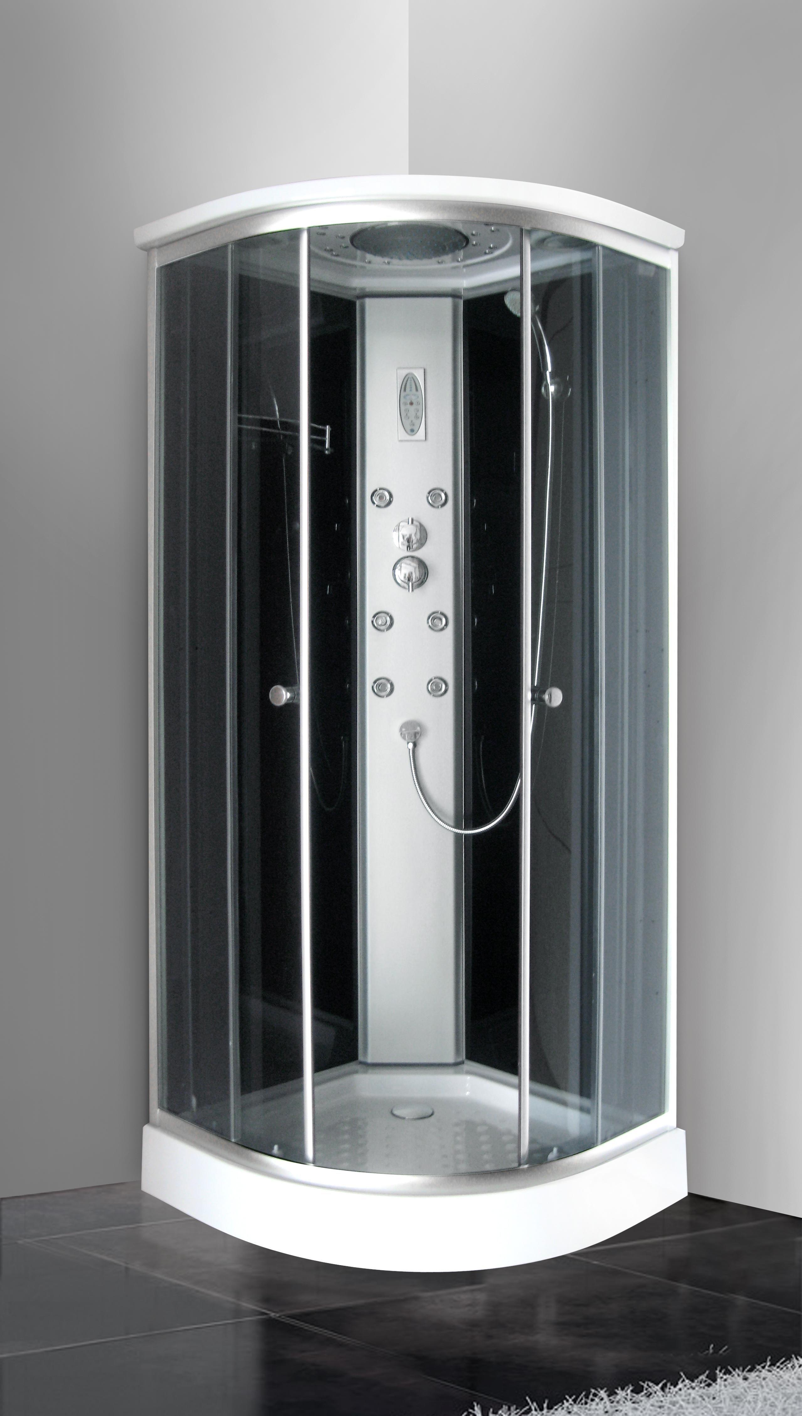 Box doccia idromassaggio 80x80 angolare con cromoterapia
